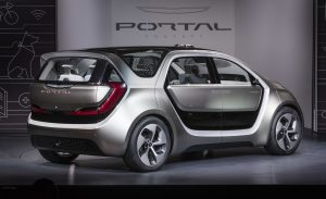 Las Vegas – January 3, 2017 – Fiat Chrysler Automobiles unveiled the Chrysler Portal Concept at CES 2017 today.  Designed to grow with millennials through their life stages, the Chrysler Portal Concept is electric powered, seats six and has a number of high-tech sensors that allows it to be classified as a semi-autonomous vehicle. For more information visit media.fcanorthamerica.com.