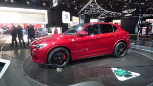 Alfa Romeo Stelvio Quadrifoglio, în carne și oase la Detroit. SUA va fi o piață foarte importantă pentru primul SUV din istoria mărcii Alfa Romeo.