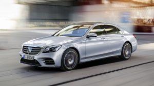 Mercedes-Benz S-Klasse; Langer Radstand; 2017; Exterieur: Diamantsilber; AMG Line; Interieur: Leder Magmagrau/Espressobraun // Mercedes-Benz S-Class; long wheelbase; 2017; exterior: diamond silver; AMG line; interior: leather magma grey/espresso brown