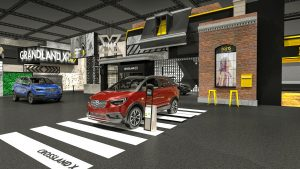 """""""X-Ville"""": the Opel stand at the Frankfurt motor show takes the shape of a small town called Crossville."""