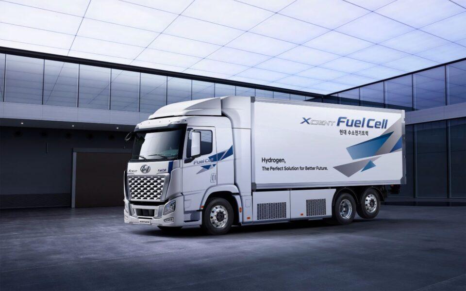 Cele 46 de autocamioane fuel-cell Hyundai Xcient din flota HHM au parcurs până acum nu mai puțin de 750.000 de km cu zero emisii